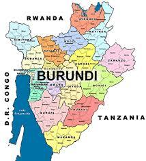 Carte communes Burundi